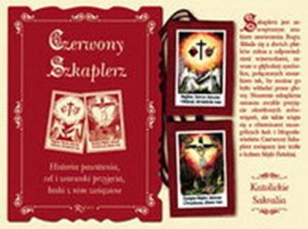 Picture of Czerwony Szkaplerz Męki Pańskiej i Najświętszych Serc Jezusa i Maryi