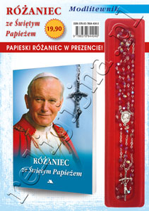 Picture of Modlitewnik ze Świętym Papieżem z różańcem w kolorze CZERWONYM