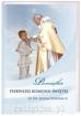 Pamiątka I Komunii Świętej ze św. Janem Pawłem II - dla chłopca