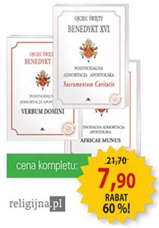 Picture of Adhortacje Benedykta XVI - Komplet 3 książek