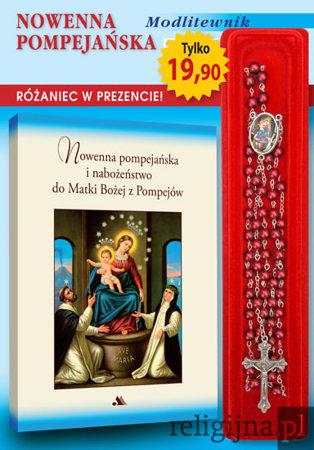 Picture of Nowenna pompejańska oraz nabożeństwo do Matki Bożej z Pompejów. Modlitewnik z czerwonym różańcem gratis!