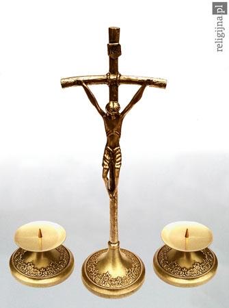 Picture of Papieski komplet kolędowy - duży, w kolorze złotym