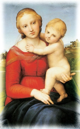 Picture of Matka Boża z Jezusem - Obrazek kolędowy - OB19