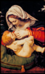 Picture of Matka Boża karmiąca Jezusa - Obrazek kolędowy - ikona - OB20