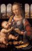 Picture of Matka Boża z Dzieciątkiem i kwiatem - Obrazek kolędowy - OB23