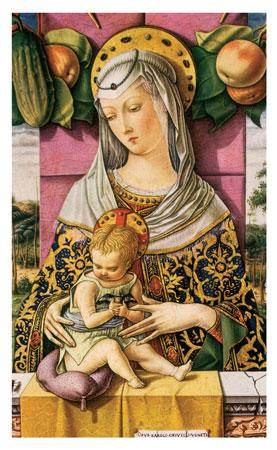 Picture of Matka Boża z Dzieciątkiem na balkonie - Obrazek kolędowy - OB25