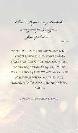 Picture of Matka Boża z Dzieciątkiem i aniołkami - Obrazek kolędowy - OB26