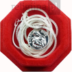 Srebrny medalik św. Rita z łańcuszkiem