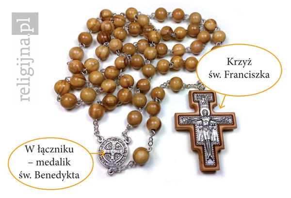 Picture of Różaniec z drzewa oliwnego w etui