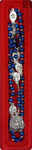 Picture of Różaniec do Matki Bożej Bolesnej. Modlitewnik z niebieskim różańcem w prezencie