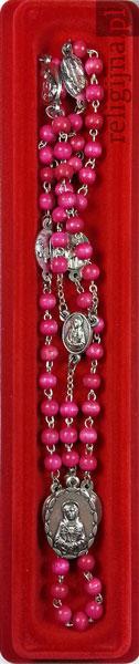 Picture of Różaniec do Matki Bożej Bolesnej. Modlitewnik z czerwonym różańcem w prezencie