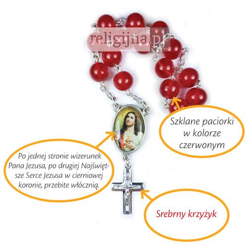 Picture of Papieski modlitewnik do Najświętszego Serca Pana Jezusa z koronką w prezencie