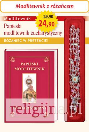 Picture of Papieski modlitewnik eucharystyczny z różańcem w prezencie