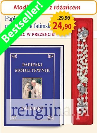 Picture of Papieski modlitewnik fatimski z różańcem w prezencie