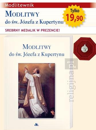 Picture of Modlitwy do św. Józefa z Kupertynu. Modlitewnik ze srebrnym medalikiem w prezencie