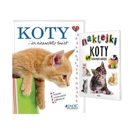 Koty i ich niezwykły świat. Książka + naklejki