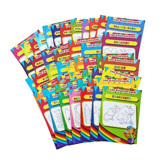 Wielki pakiet kolorowanek