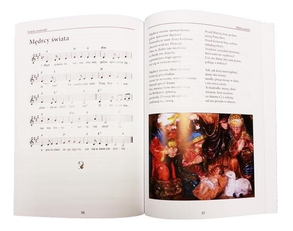 Kolędy i pastorałki z płytą CD. Ilustrowany śpiewnik z nutami - zawartość