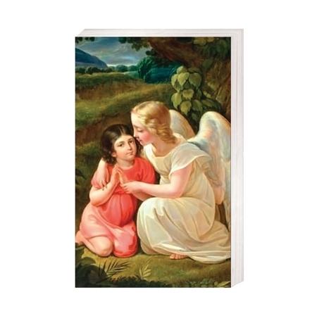 Anioł Stróż - Nauka modlitwy - Obrazek kolędowy