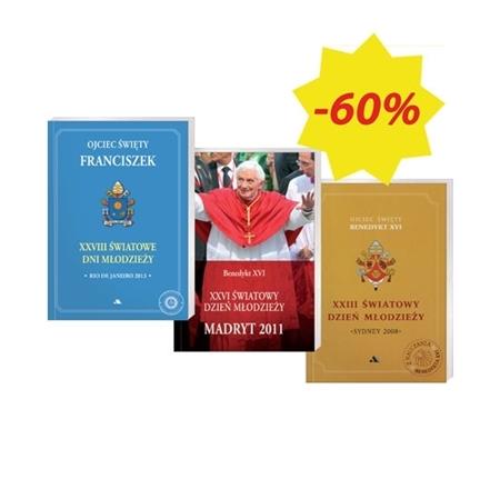 Papieskie słowa - Światowe Dni Młodzieży - pakiet 3 książek