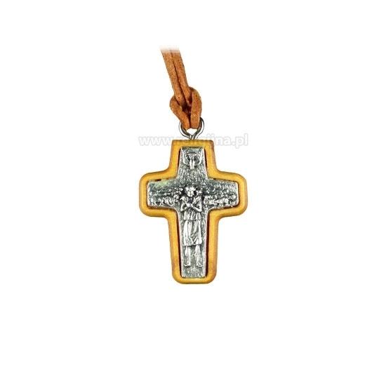 Krzyż papieża Franciszka na rzemieniu