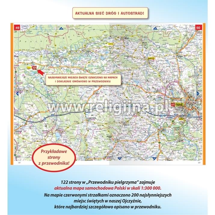 Polska. Przewodnik pielgrzyma z mapą samochodową Polski - opis map