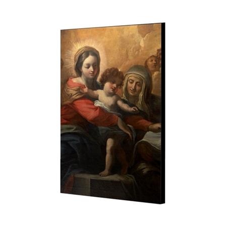 Św. Anna z Maryją i dzieciątkiem - obraz na desce