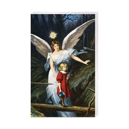 Dziecko z Aniołem Stróżem - Obrazek kolędowy - OB39