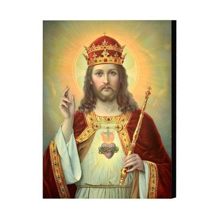 Chrystus Król - obraz na desce : Ikony