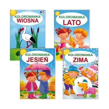 Kolorowanki cztery pory roku 4 książeczki