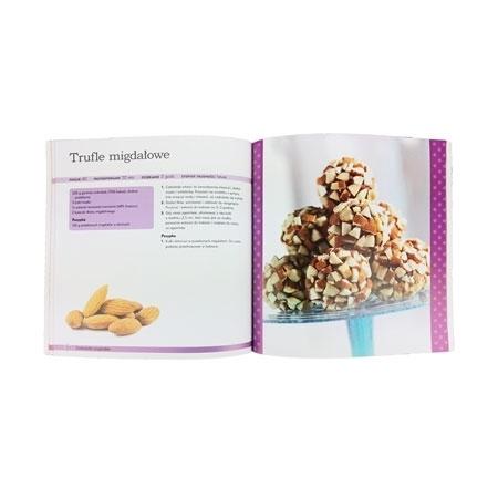 Czekoladki. 21 przepisów. Książka kucharska i 8 silikonowych foremek na czekoladki : Książka