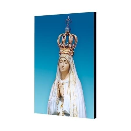 Matka Boża Fatimska. Pamiątka 100. rocznicy Objawień Maryi w Fatimie - obraz na desce