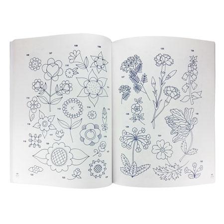 Hafty kwiatowe. 405 wzorów do wyszywania lub malowania - przykładowe strony