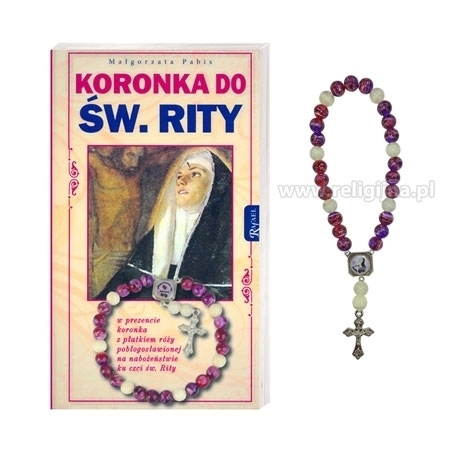 Koronka do św. Rity z koronką z płatkiem róży w prezencie - Małgorzata Pabis : Książka