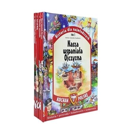 Kocham Polskę. T. 1-4. Pakiet 4 książek : Dla dzieci