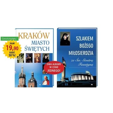 Promocyjny pakiet albumów. Kraków. Misto świętych + Szlakiem Bożego Miłosierdzia : Książka