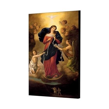 Matka Boża rozwiązująca węzły - obraz na desce