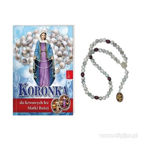 Koronka do krwawych łez Matki Bożej - Modlitewnik z koronką do odmawiania