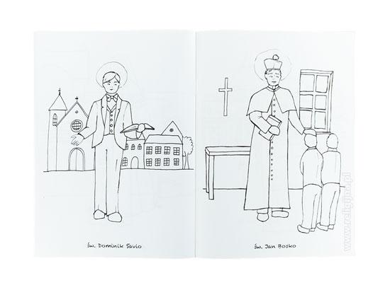 Święci kościoła. Kolorowanka : Książka