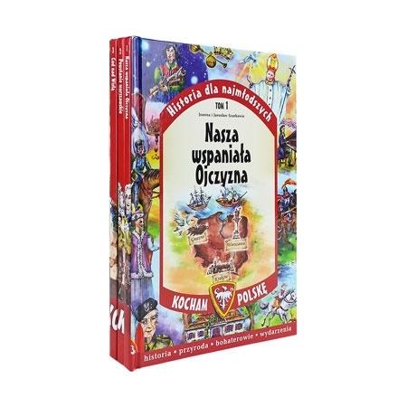 Kocham Polskę. Komplet 3 książek : Dla dzieci