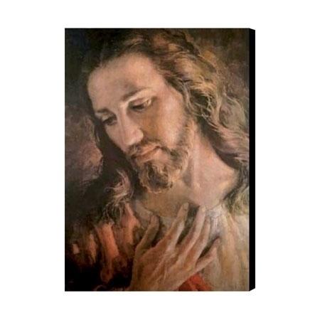 Oblicze Jezusa. Obraz na desce według brata Elii : Obrazy religijne