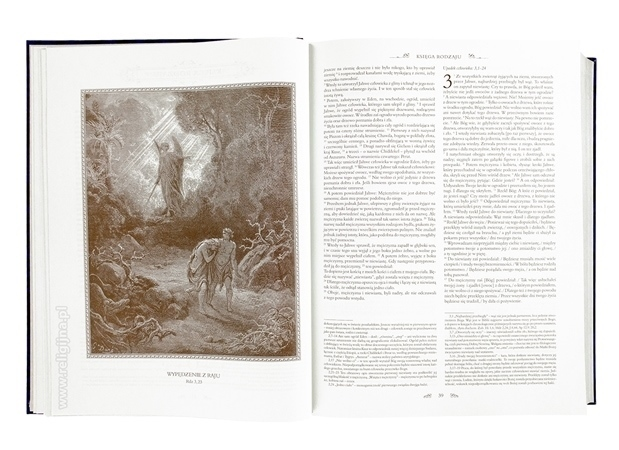Wygnanie z Raju - Ilustracje Gustave'a Dore : Pismo Święte Starego i Nowego Testamentu z komentarzami Jana Pawła II. Wydanie specjalne