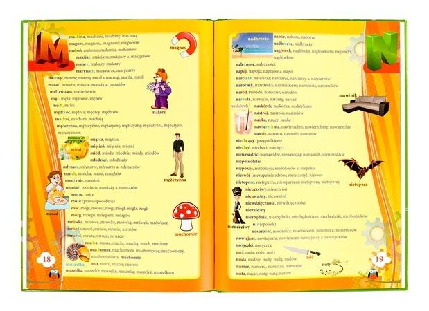 Słownik ortograficzny dla dzieci - zawartość