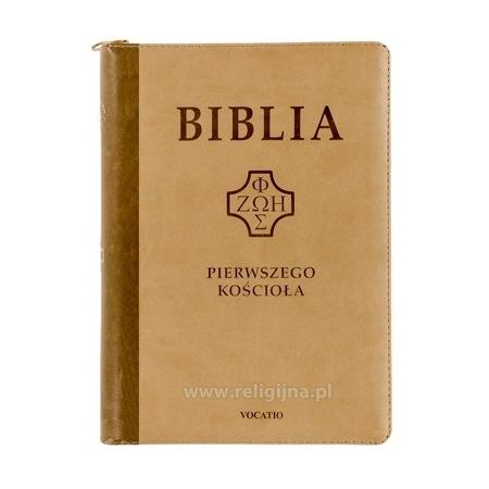 Biblia Pierwszego Kościoła - okładka w kolorze brązowym
