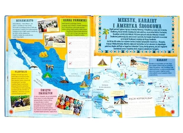 Atlas świata dla dzieci - Meksyk, Karaiby i Ameryka Środkowa