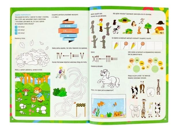 Księga zabaw na odpoczynek po lekcjach - zawartość