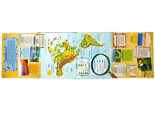 Atlas świata dla dzieci - Jen Green, Christiane Engel - rozkładówka