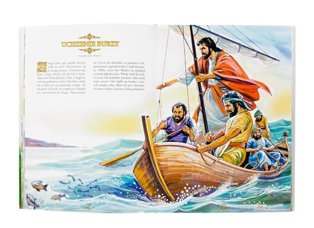 Jezus ucisza wzburzone fale - Biblia dla dzieci. Pozwólcie dzieciom przychodzić do mnie