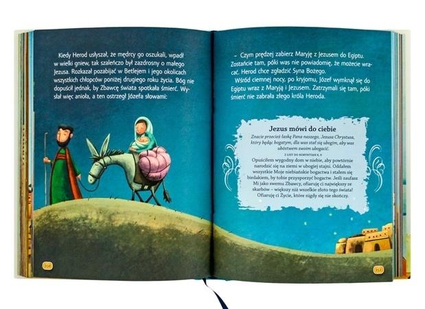 Święta Rodzina ucieka z Egiptu - Jezus mówi do dzieci. Opowieści biblijne. Pamiątka Pierwszej Komunii Świętej - Sarah Young