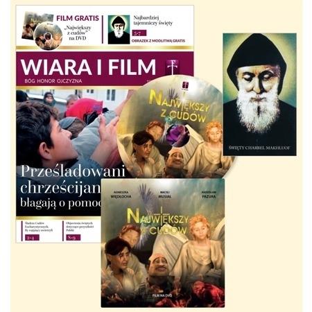 Wiara i film z filmem DVD Największy z cudów oraz obrazkiem - zestaw